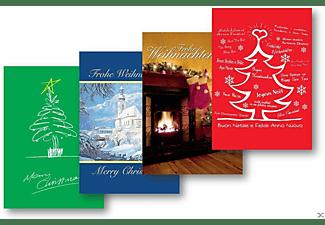 VARIOUS - Weihnachtskarten 5er-Pack:Baum Rot-Grün-Kamin-Kirc  - (CD)