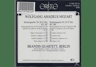 Brandis Quartett - Streichquartette G-Dur KV 387/F-Dur KV 590  - (CD)