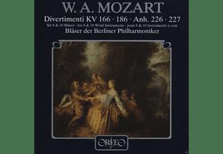 Blaser Der Berliner Philharmoniker, Wolfgang Amadeus Mozart - W. A. Mozart: Divertimenti KV 166 - 186 Anh. 226 - 227  - (CD)