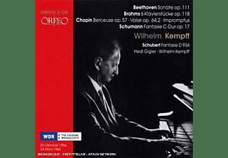 Kempff, Gigler - Sonate op.111/6 Klavierstücke op.118/Berceuse/+  - (CD)
