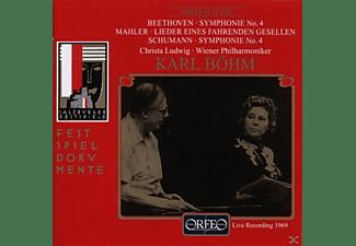 Christa Ludwig, Wiener Philharmoniker, Karl Böhm - Sinfonien 4/Lieder Eines Fahrenden Gesellen  - (CD)