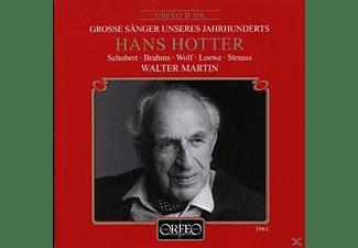 Hotter & Martin - Lieder:Grenzen der Menschheit/Auf dem Kirchhofe/+  - (CD)