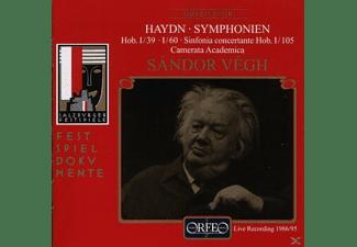 S-ndor & Camerata Vegh - Sinfonien g-moll/C-Dur/B-Dur Hob.I:39/60/105  - (CD)