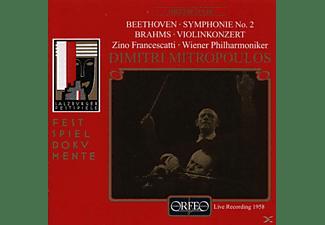 Zino Francescatti - Sinfonie 2 op.39/Violinkonzert D-Dur op.77  - (CD)