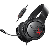 CREATIVE Sound BlasterX H3 Gaming Headset Schwarz, Rot