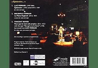 Luc Ferrari, Brunhild Ferrari, Vincent Royer - Ephemere  - (CD)