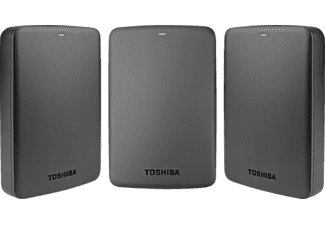 Disco duro 3 TB - Toshiba Canvio Basics, 2.5 pulgadas, USB 3.0, Negro