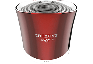 CREATIVE Woof 3 BT, Bluetooth Lautsprecher, Rot