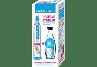SODASTREAM 2200065490 Reservepack (Kohlensäure-Zylinder 60L + Glaskaraffe)