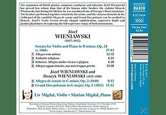 Marian Migdal, Liv Migdal - Wieniawski: Werke Für Violine & Klavier  - (CD)