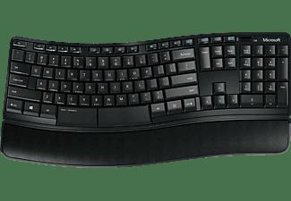 MICROSOFT Sculpt Comfort Desktop, Tastatur-Maus Set, Schwarz