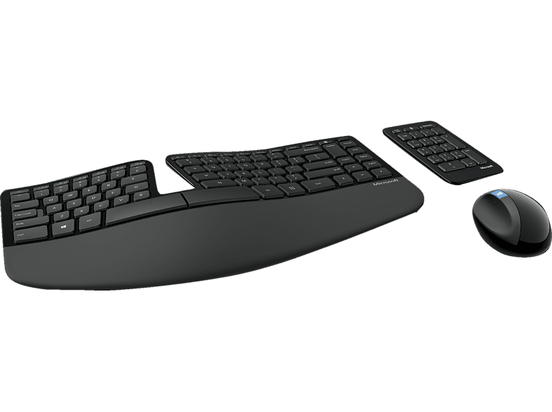 MICROSOFT Sculpt , Tastatur & Maus Set, Schwarz