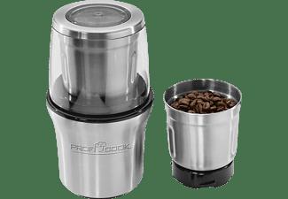 PROFI COOK PC-KSW 1021 Kaffeemühle Silber (200 Watt, 2 Edelstahlschlagmesser)