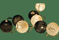 HQ HQLEDSLPBALL Lichterkette,  Schwarz/Weiß,  Warmweiß