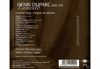 Mattia Ometto, Andrea Mastroni - Lamento, Complete Songs  - (CD)