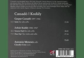 Antonio Meneses, Claudio Cruz, Zoltán Kodály - Cassado/Kodaly  - (CD)