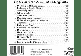 VARIOUS - Bayerische Tänze Und Schuhplattler  - (CD)