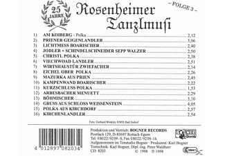 Rosenheimer Tanzlmusi - Folge 3, 25 Jahre  - (CD)