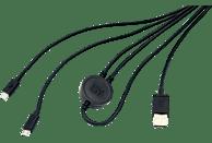 ISY IC-601 PS4 Dual Charging Kabel, Schwarz