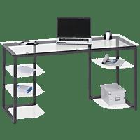 MAJA 9552, Schreib- und Computertisch, Antrahzit/Klarglas