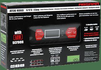 ABSAAR 77949 Batterie-Ladegerät vollautomatisch 4 Ampere Batterieladegerät, Rot/Schwarz