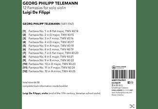 Luigi De Filippi - 12 Fantasias For Solo Violin  - (CD)