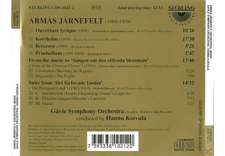 Gavle Symphony Orchestra - The Orchestral Music Of Armas Järnefelt  - (CD)
