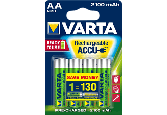 VARTA Ready2Use ACCU AA 2100 mAh (x4) - (12812)
