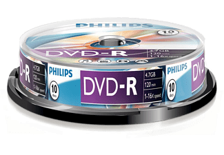 PHILIPS Pack 10 DVD-R 4.7 GB 16x (DM4S6B10F/00)