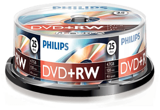PHILIPS Pack 25 DVD+RW 4.7 GB 4x (DW4S4B25F/00)