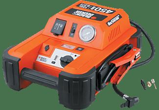 BLACK+DECKER 70106 Starthilfe 450 Ampere mit Kompressor Starthilfe, Orange/Schwarz