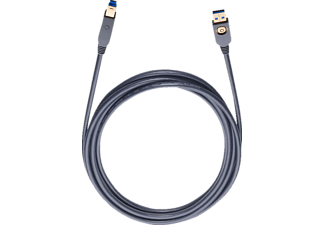 OEHLBACH USB-3.0-Kabel, A auf B USB-3.0-Kabel Anschluss A auf B USB-Kabel, Schwarz