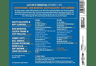 Lester Young, Ben Webster, Roy Eldrige, Dizzy Gillespie - J.A.T.P.Live At Carnegie Hall Sepgember 17, 1955  - (CD)