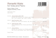 Megumi Hashiba, Rainer Moog - Romantic Works For Viola And Piano [CD]
