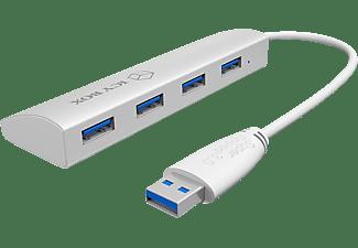 RAIDSONIC IB-AC6401, USB 3.0 Hub, Weiß
