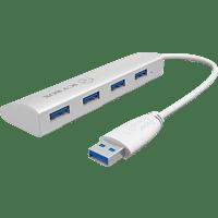 ICY BOX IB-AC6401, USB 3.0 Hub, Weiß