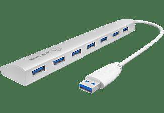 RAIDSONIC IB-AC 6701, USB 3.0 Hub, Weiß