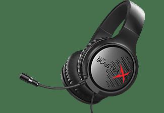 Auriculares gaming - Creative Sound Blasterx H3, polipiel acolchado, diseño circumaural