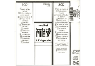 Reinhard Frédérik Mey - Recital F.Mey A L'olympia  - (CD)