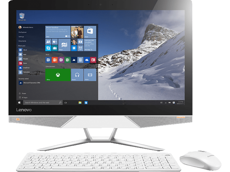 LENOVO ideacentre AIO 700-22ISH, All-in-One-PC mit 21.5 Zoll Display, Core i5 Prozessor, 4 GB RAM, 1 TB HDD, NVIDIA GeForce GT930A, Weiß