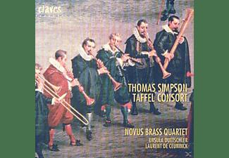 Novus Brass Quartett, Laurent De Ceuninck, Ursula Duetschler - Thomas Simpson-Taffel Consort  - (CD)