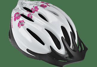 FISCHER 86138 FAHRRADHELM HAWAII S/M (Fahrradhelm, 54-59 cm, Weiß)