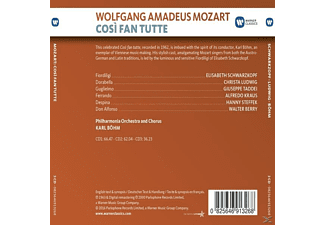 Elisabeth Schwarzkopf, Christa Ludwig, Giuseppe Taddei, Walter Berry, Philarmonia Orchestra And Chorus, Kraus Alfredo, Hanny Steffek - Cosi Fan Tutte  - (CD)