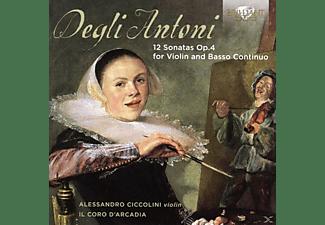 Alessandro Cicolini, Il Coro D'arcadia - 12 Sonatas Op.4 For Violin And Basso Continuo  - (CD)