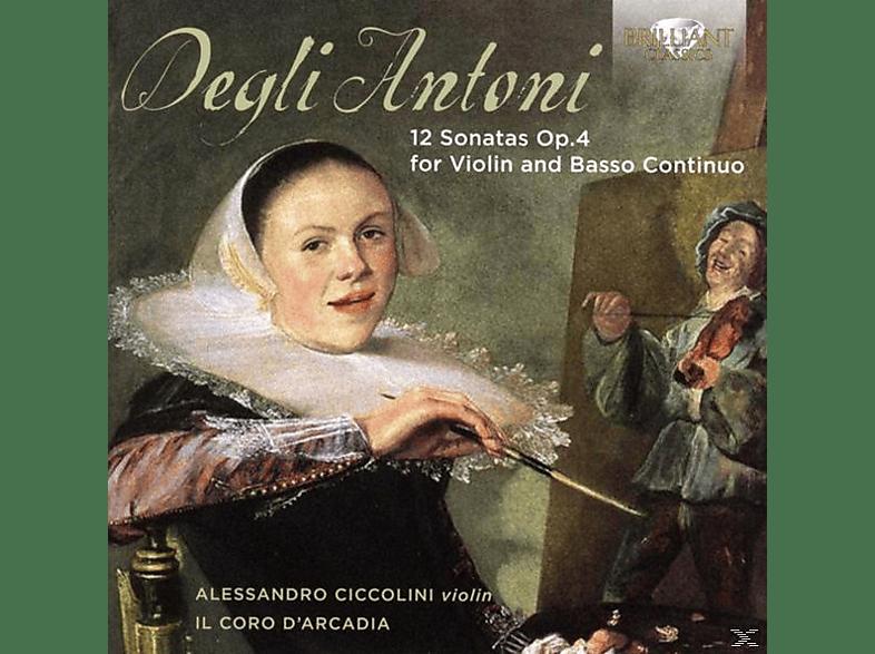Alessandro Cicolini, Il Coro D'arcadia - 12 Sonatas Op.4 For Violin And Basso Continuo [CD]