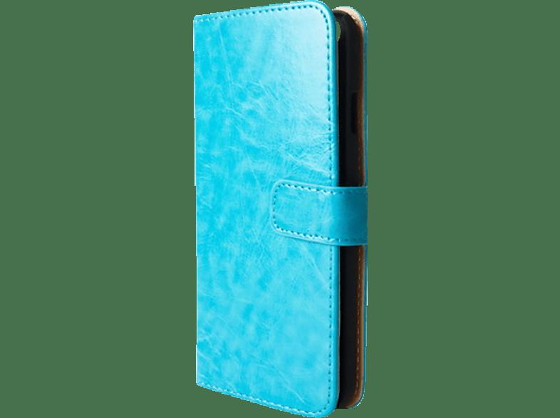 V-DESIGN BV 076 , Bookcover, Apple, iPhone 5, iPhone 5s, iPhone SE, Kunstleder, Blau