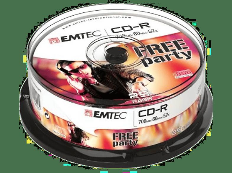 EMTEC Pack 25 CD-R 700 MB 52 x Cakebox