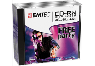EMTEC Pack 5 CD-RW 700 MB 4-12 x Jewel