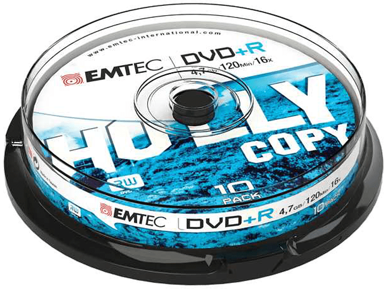 EMTEC Pack 10 DVD+R 4.7 GB 16 x Cakebox