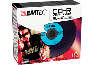 EMTEC Pack 10 CD-R 700 MB 52 x Vinyl